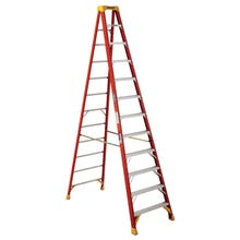Image 1 of WERNER 6212 Step Ladder, 300 lb Weight Capacity, 11-Step, Fiberglass