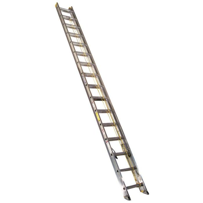 Image 1 of WERNER D1232-2 Extension Ladder, 225 lb Weight Capacity, 29 ft L Extension, Aluminum