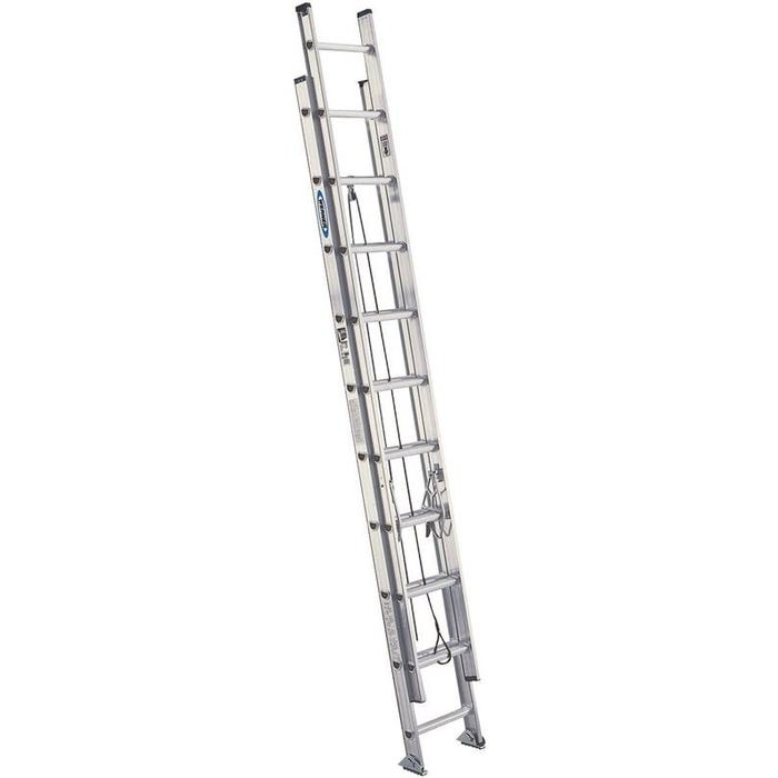 Image 1 of WERNER D1528-2 Extension Ladder, 300 lb Weight Capacity, 25 ft L Extension, Aluminum