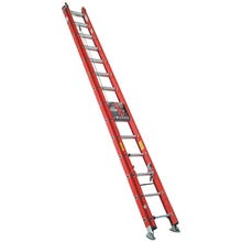 Image 1 of WERNER D6228-2 Extension Ladder, 300 lb Weight Capacity, 25 ft L Extension, Fiberglass