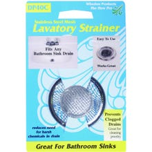 Image 2 of Whedon DP40C Lavatory Strainer with Ring, 2-1/4 in Dia, Stainless Steel, For: Lavatory Sink Drains