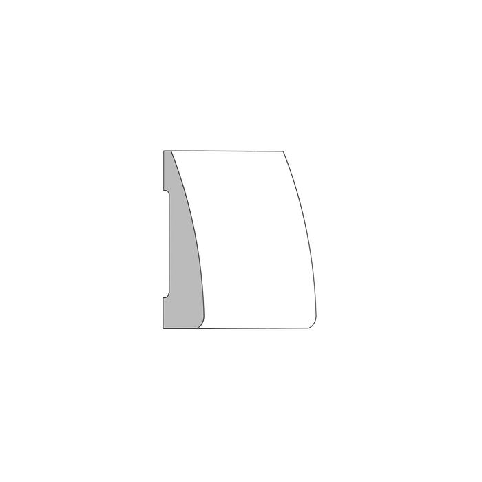 (M49) ¹¹⁄₁₆ in. x 2½ in. Clamshell Casing, Clear Pine