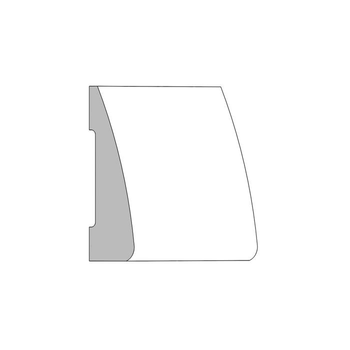 (M52) ¹¹⁄₁₆ in. x 2¼ in. x 16 ft. Clamshell Casing, Primed Finger-Jointed Pine