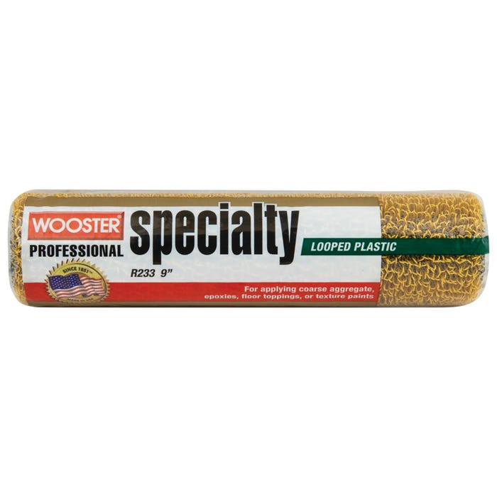 Image 1 of Wooster R233-9 Roller Cover, 1/4 in. Nap x 9 in., Plastic Texture Cover