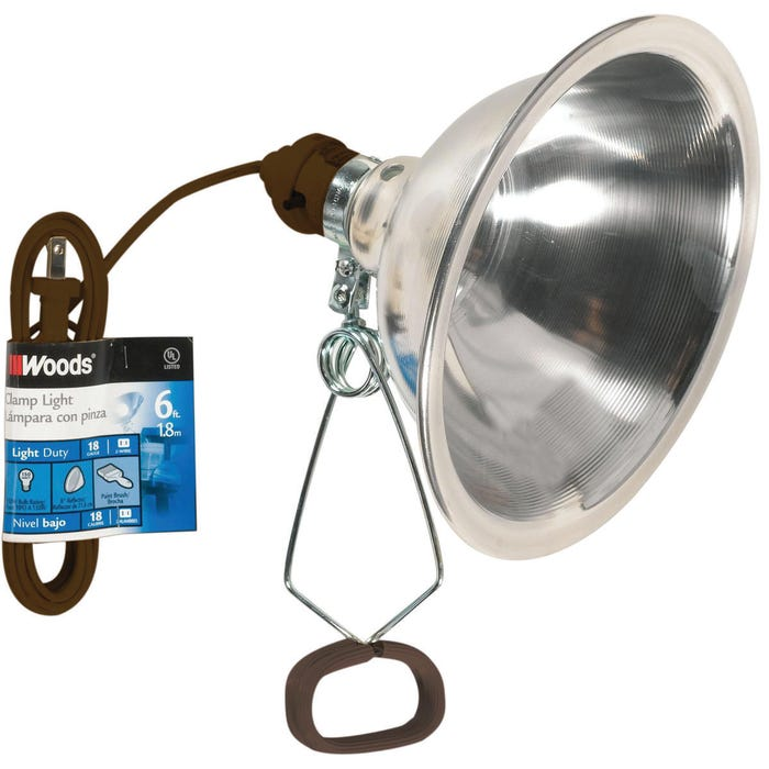 Image 2 of CCI 0151 Clamp Light, Incandescent Lamp, 150 W, 6 ft L Cord