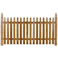 """Williamsburg"", Cedar Picket Fence, Section, 4 ft. x 8 ft."