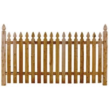 Cedar Picket Fence, Williamsburg, 4' x 8' Section