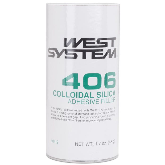 West System 406 Colloidal Silica Adhesive Filler, 1.7 oz