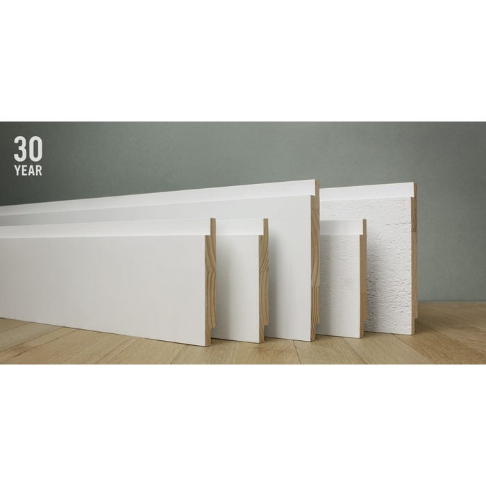 WindsorONE Protected - Primed Finger Joint Pine Shiplap Boards, 16 ft. Length