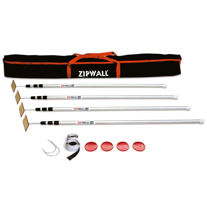 ZipWall 12' 4 Pack ZipPole w/ Bag