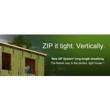 Huber ⁷⁄₁₆ in. T&T ZIP System Roof and Wall Sheathing, 4 ft. x 10 ft. (GREEN)