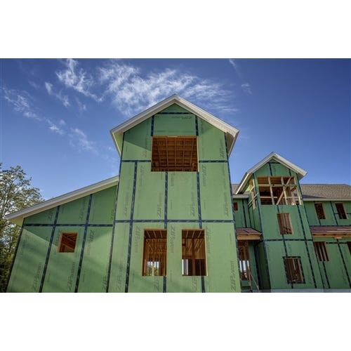Huber ⁷⁄₁₆ in. T&T ZIP System Roof and Wall Sheathing (GREEN)