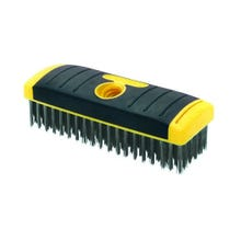 ALLWAY SOFT GRIP CARBON STEEL WIRE BRUSH BLOCK