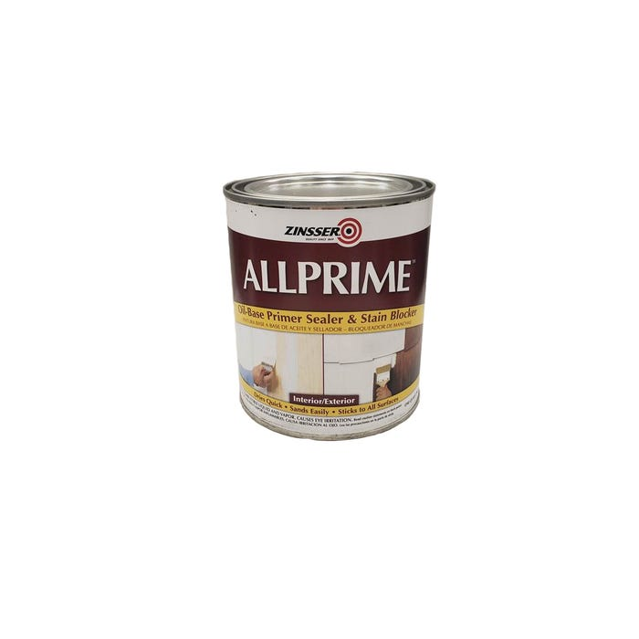 Zinsser Allprime Oil-Based Primer Sealer & Stain Blocker Int/Ext Quart