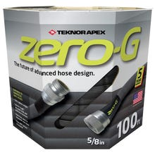 Teknor Apex Garden Hose, 5/8 in ID x 100 ft L, G-Force Woven Fiber, Grey, 600 psi Burst