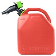 Scepter Gas Can, 18.8 Liters (4.97 Gallons) Capacity, HDPE, Red
