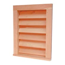 Image 1 of 12 in. x 24 in. Red Cedar Gable Louver