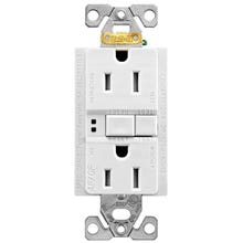 Eaton Wiring Devices TRAFGF15W-K-L Duplex Receptacle Wallplate, 15 A, 2-Pole, 5-15R, White