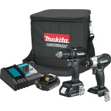 MAKITA 18V LXT Lithium-Ion Sub-Compact Brushless Cordless 2-Pc. Combo Kit (2.0Ah) with Case