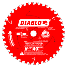 Diablo 6½ in. x 40 Tooth Finish Trim Saw Blade  Twin Pack