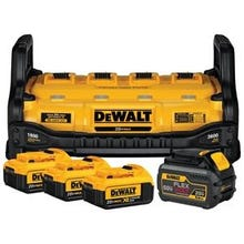 DeWALT DCB1800M3T1 Power Station and Simultaneous Battery Charge Kit, 4, 6 Ah