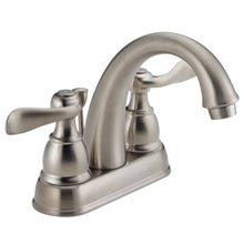 DELTA Windemere 25996LF-BN-ECO Bathroom Faucet, 2-Faucet Handle, 5-7/8 in H Spout, Brushed Nickel