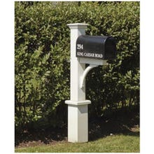 "White ""Dover"" Style PVC Mailbox Post (Assembled)"