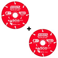 "Diablo 4-1/2"" Diamond Blades 2-Pack"