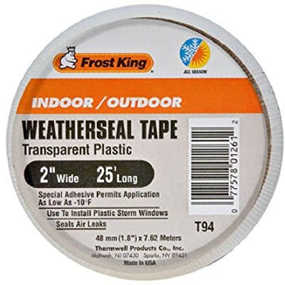 FROST KING CLEAR WEATHERSEAL TAPE 2