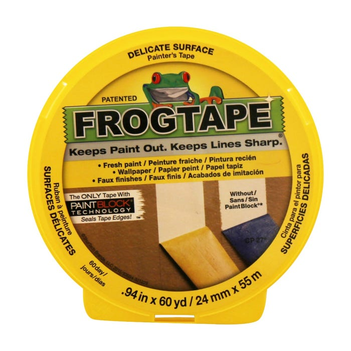FrogTape, Delicate Surface Painting Tape, 0.94 in. X 60 yds.