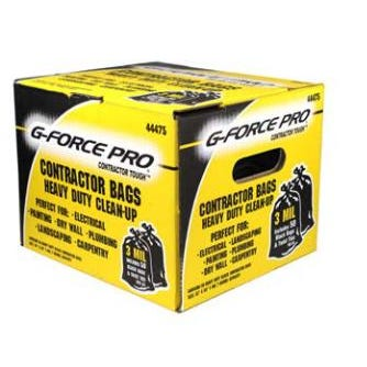 G-FORCE Contractor Tough Heavy Duty Clean-Up Bags 3mil 50ct