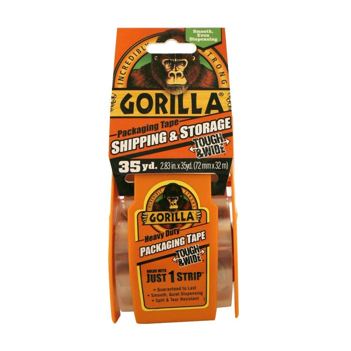 GORILLA PACKAGING TAPE TOUGH & WIDE 2.83 in. X 35 yds