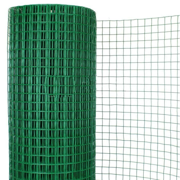1 in. x 1 in. x 48 in. - Swimming Pool Enclosure Vinyl Wire Fence, Green, 50 ft. Roll