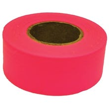 CH Hanson Flagging Tape, PVC, Fluorescent Pink