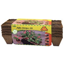 Jiffy JS50 Strip Pot, 4 in L Tray, 10 in W Tray, 4 in H Tray, Sphagnum Peat Moss