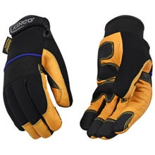 Kincopro™ Lined Premium Grain Goatskin & Synthetic Hybrid with Pull-Strap, Men's Large