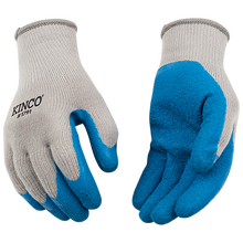 Kinco Poly-Cotton Knit Shell w/Latex Palm Gloves - Large