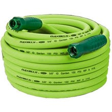 Flexzilla Garden Hose, Male x Female, 5/8 in ID, 10 ft L, 150 psi at 70 deg F, Flexible Hybrid Polymer, Zilla Green
