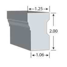 (217) 1¼ in. x 2 in. x 17 ft. Brick Mould Casing, Exterior PVC