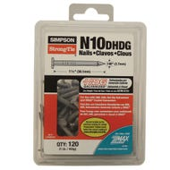Strong-Drive® SCN SMOOTH-SHANK CONNECTOR Nail — 1-1/2 in. x 0.148 in. HDG (1 lb.) (N10DHDG)