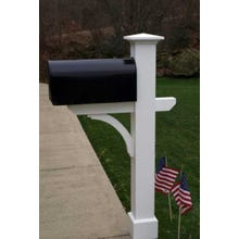 "Classic ""New Englander"" Style Primed Western Red Cedar Mailbox Post (Assembled)"