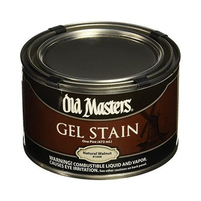 OLD MASTERS GEL STAIN,Natural Walnut, PINT