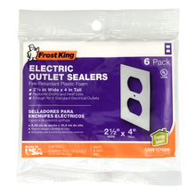 Frost King Electric Outlet Sealers, 6-Pack