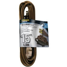 Powerzone Household Extension Cord, 16/3 Brown