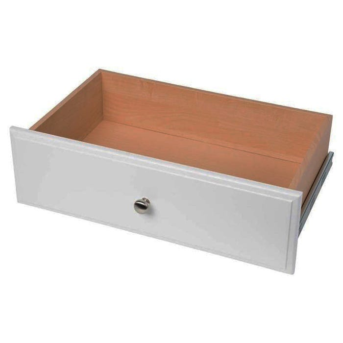 Easy Track Closet Organization Deluxe Drawer, White, 8