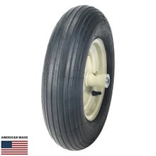 "16"" Heavy Duty Wheel Assembly wit Grease Fitting & Bearing with 2-Ply Ribbed Tire"