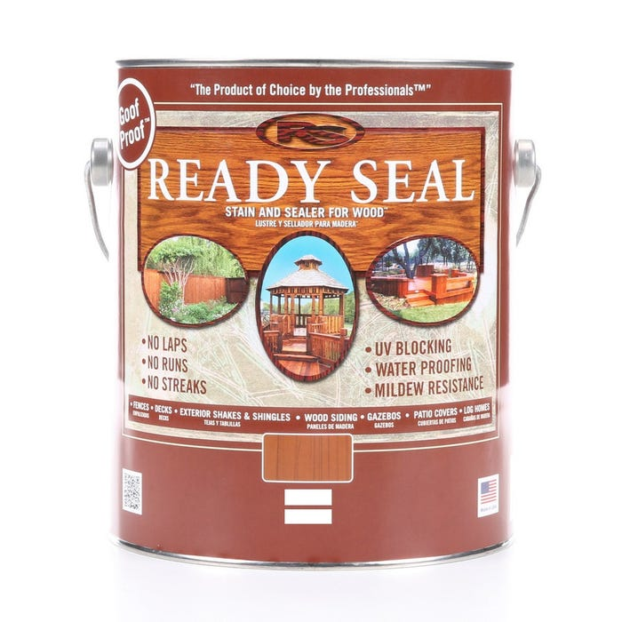 READY SEAL WOOD STAIN AND SEALER LIGHT OAK GAL