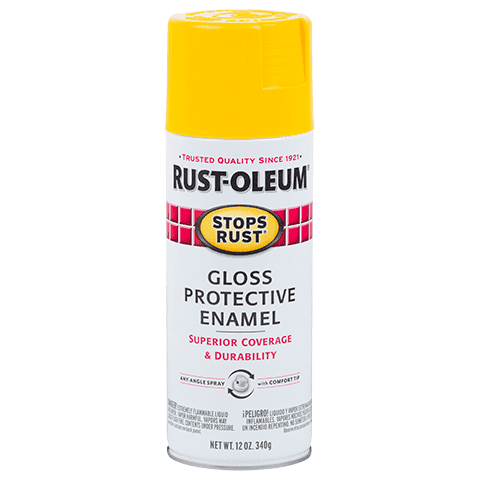 Rustoleum Stops Rust Sunburst Yellow Protective Enamel Spray