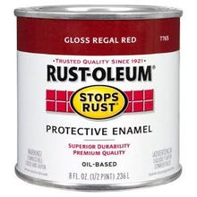 Rustoleum Stops Rust Regal Red Protective Enamel 1/2 Pint