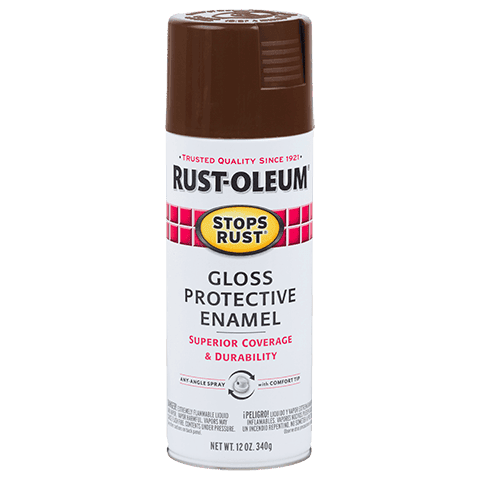 Rustoleum Stops Rust Leather Brown Protective Enamel Spray